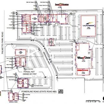 Plan of mall Del Mar Village