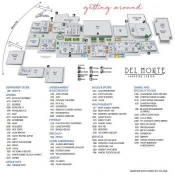 Plan of mall Del Monte Center