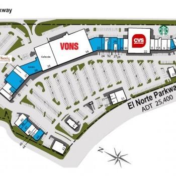 Plan of mall Del Norte Plaza