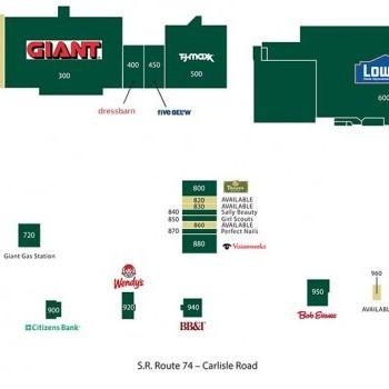 Plan of mall Delco Plaza