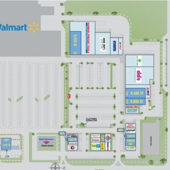 Plan of mall Dellview Market Place