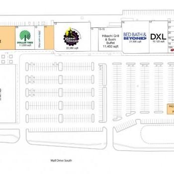 Plan of mall Delta Center