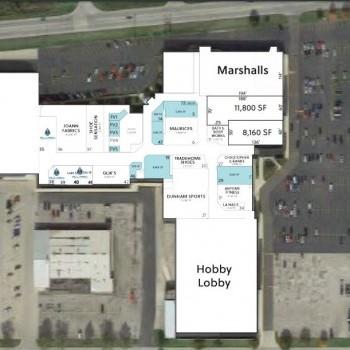 Plan of mall Delta Plaza Mall