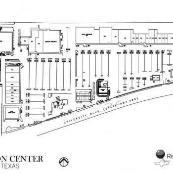 Plan of mall Denton Center