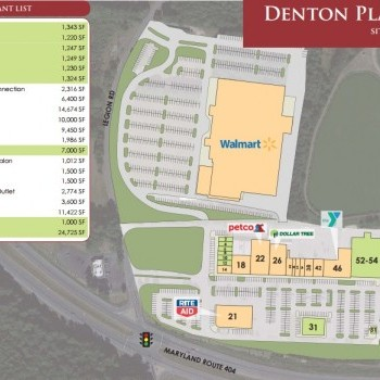Plan of mall Denton Plaza