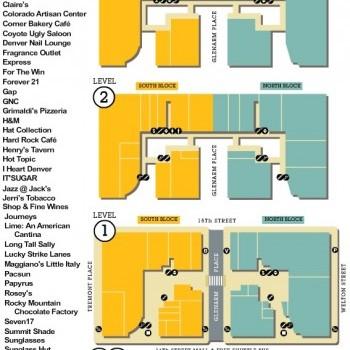 Plan of mall Denver Pavilions