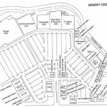 Plan of mall Desert Crossing Shopping Center