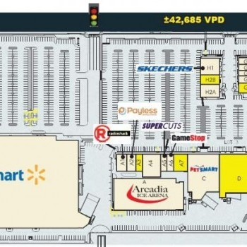 Plan of mall Desert Palms Power Center