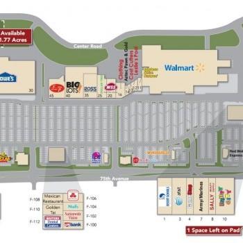 Plan of mall Desert Sky Esplanade