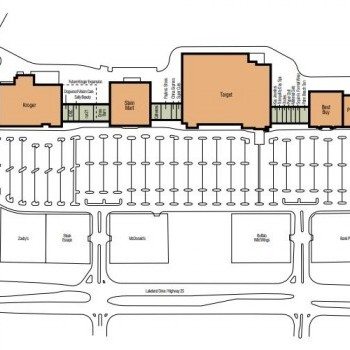 Plan of mall Dogwood Promenade