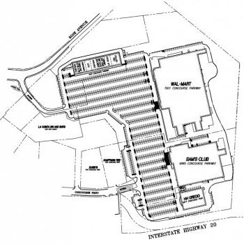 Plan of mall Douglasville Crossroads