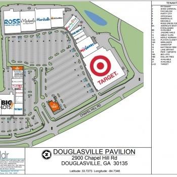Plan of mall Douglasville Pavilion