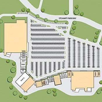 Plan of mall Douglasville Town Center