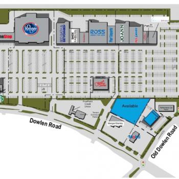 Plan of mall Dowlen Towne Center