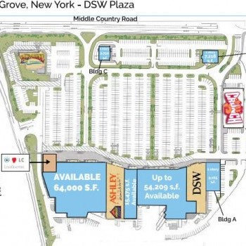 Plan of mall DSW Plaza at Lake Grove