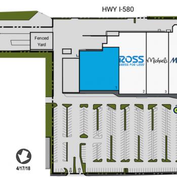 Plan of mall Dublin Retail Center