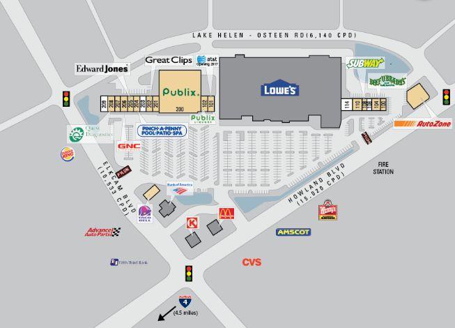 Dupont Lakes Shopping Center - store list, hours, (location: Deltona ...