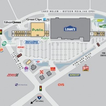 Plan of mall Dupont Lakes Shopping Center