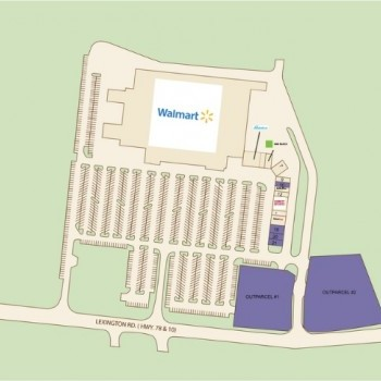Plan of mall East Athens Marketplace