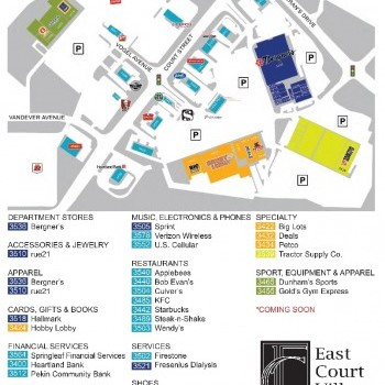 Plan of mall East Court Village