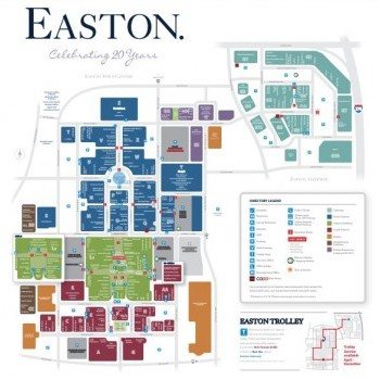 Plan of mall Easton Town Center