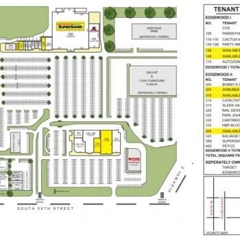 Plan of mall Edgewood I & II Shopping Center
