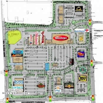 Plan of mall Edwardsville Crossing