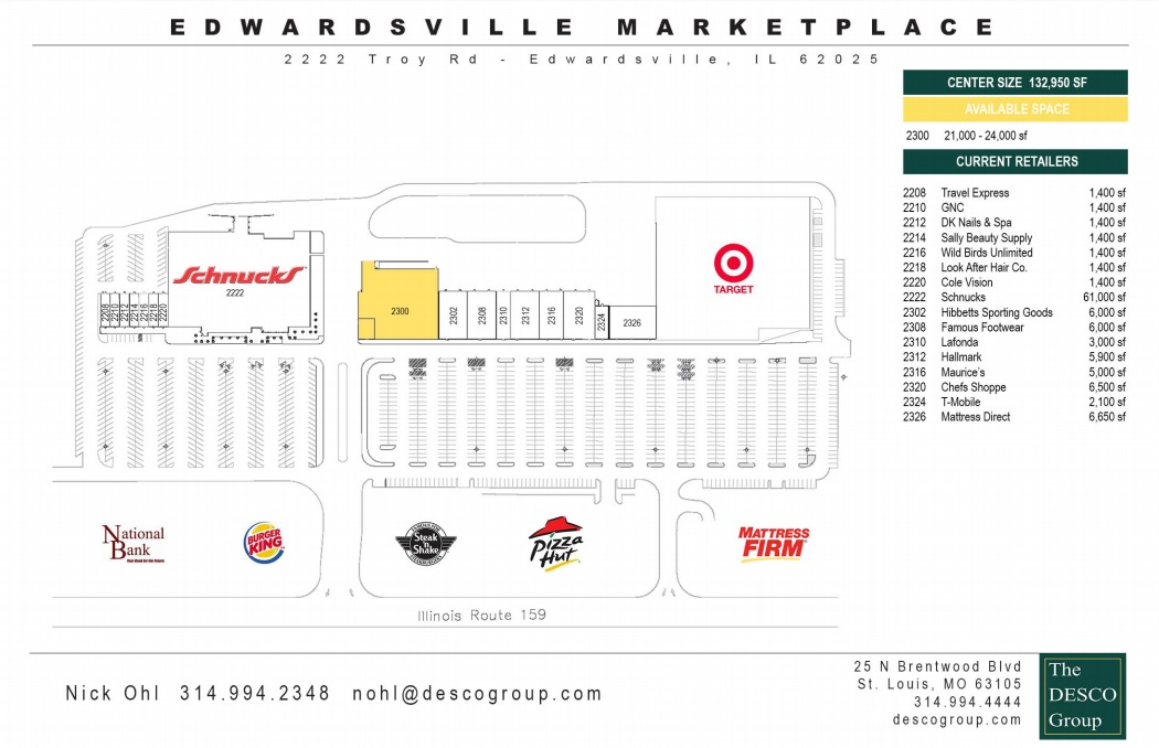 Famous Footwear in Edwardsville Marketplace - store location plan