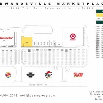 Plan of mall Edwardsville Marketplace