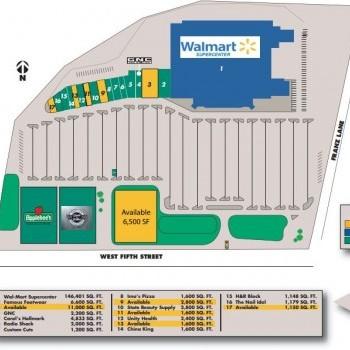 Plan of mall Eureka Towne Center
