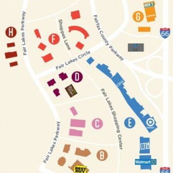 Plan of mall Fair Lakes Center