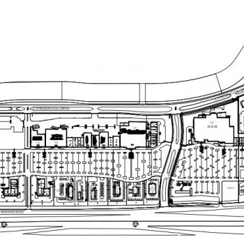 Plan of mall Fairfield Town Center
