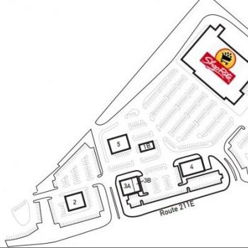 Plan of mall Fairgrounds Plaza