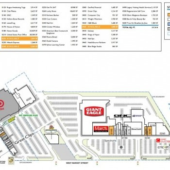 Plan of mall Fairlawn Town Shopping Center
