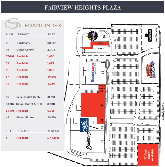 Fairview Heights Plaza Store List Hours Location Fairview Heights Illinois Malls In