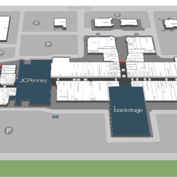 Plan of mall Fashion Fair Mall