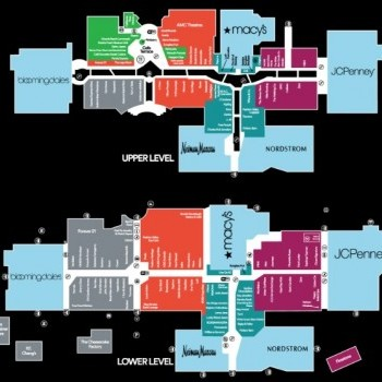 Plan of mall Fashion Valley Mall