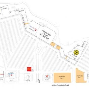 Plan of mall Festival Centre - North Charleston