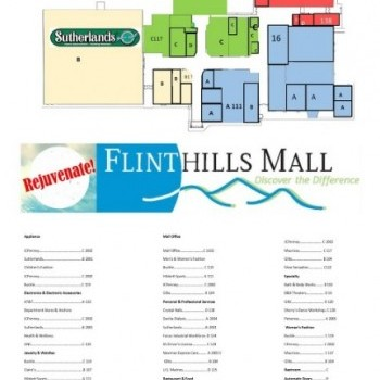 Plan of mall Flinthills Mall