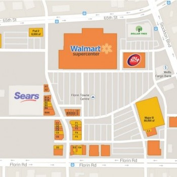 Plan of mall Florin Towne Centre