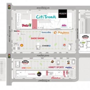 Plan of mall Fondren Southwest Village