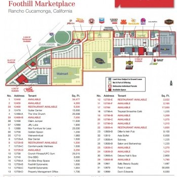 Mor Furniture For Less In Foothill Marketplace   Store Location Plan