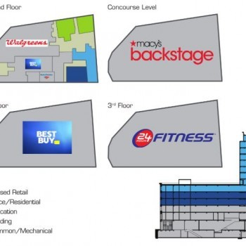 Plan of mall Fordham Place