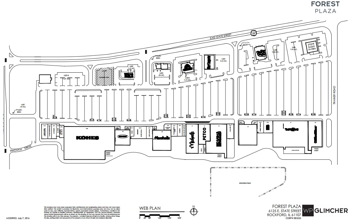 kohl's in forest plaza  store location hours (rockford illinois  - kohl's in forest plaza  store location plan