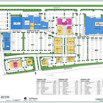 Plan of mall Foundry Row