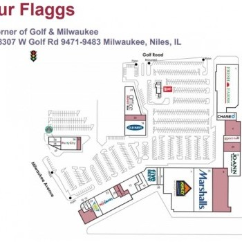Plan of mall Four Flaggs