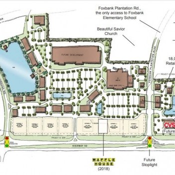 Plan of mall Foxbank Towne Center