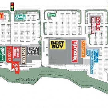 Plan of mall Franklin Towne Plaza