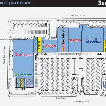 Plan of mall French Market