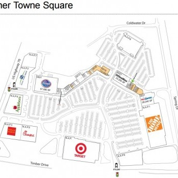 Plan of mall Garner Towne Square